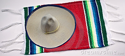 Mexican Sombrero and Blanket