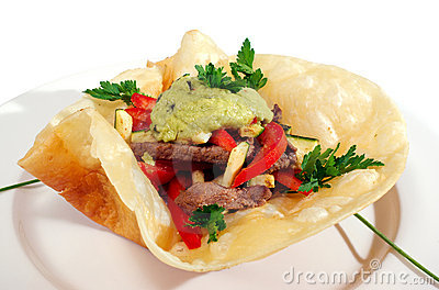 Mexican style food isolated
