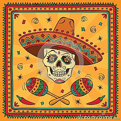 Free Mexican Sugar Skull Royalty Free Stock Photography - 26944937