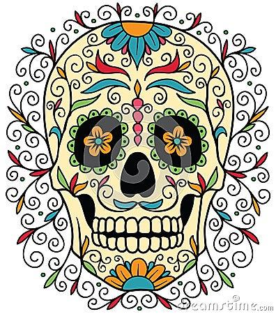 Free Mexican Sugar Skull Stock Photos - 33834783