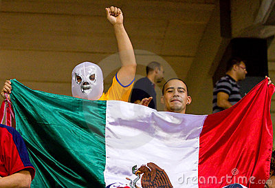 Mexican supporters Editorial Stock Image