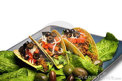 Mexican tacos,isolated