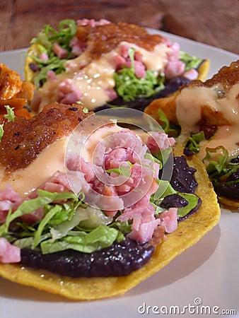 Mexican tacos quesadillas