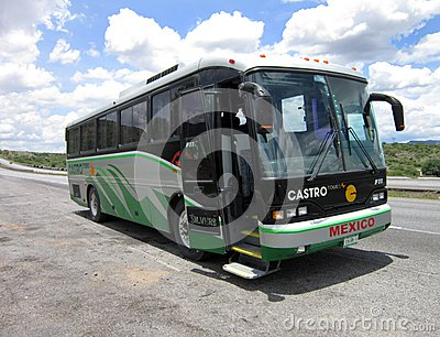 Mexican Tour Bus Editorial Image