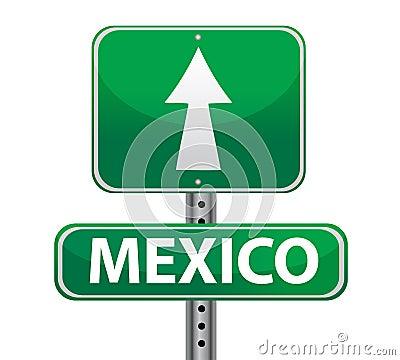 Mexico border sign