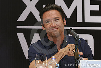 MEXICO CITY Actor Hugh Jackman Editorial Photography