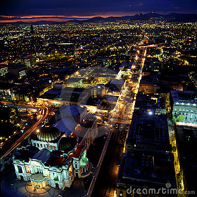 Mexico City al night