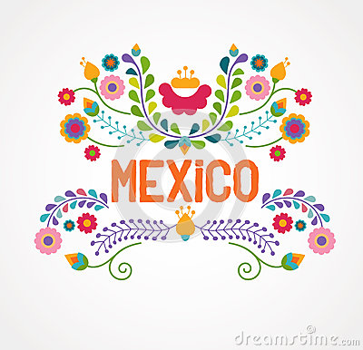 Free Mexico Flowers, Pattern And Elements Royalty Free Stock Photo - 51681505