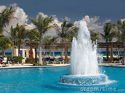 Mexico pool and ocean