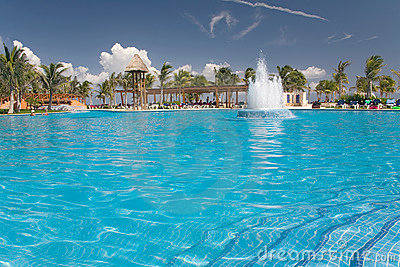 Mexico pool waterworks view from water