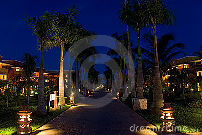 Mexico resort night