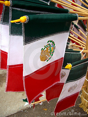 Mexico Souvenir Flags