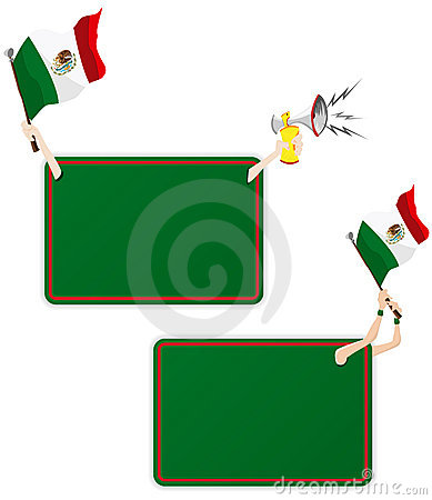 Mexico Sport Message Frame with Flag.
