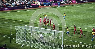 Mexico versus Gabon in 2012 olympics van Londen Redactionele Stock Foto