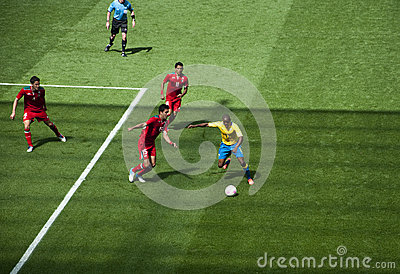 Mexico Vs Gabon in the 2012 London olympics Editorial Stock Image