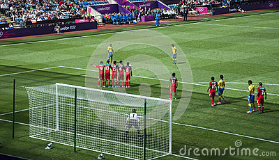 Mexico Vs Gabon in the 2012 London olympics Editorial Photography