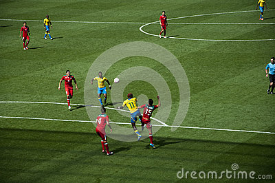 Mexico Vs Gabon in the 2012 London olympics Editorial Image