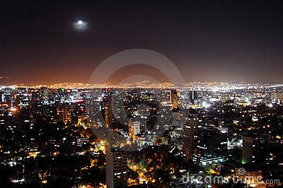 Mexiko City bis zum Nacht