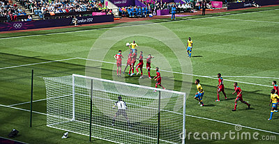 Mexiko gegen Gabun in den Londonolympics 2012 Redaktionelles Stockfoto