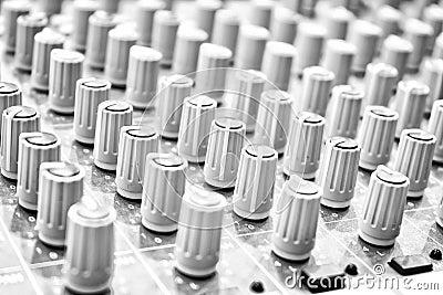 Mezclador de la música.