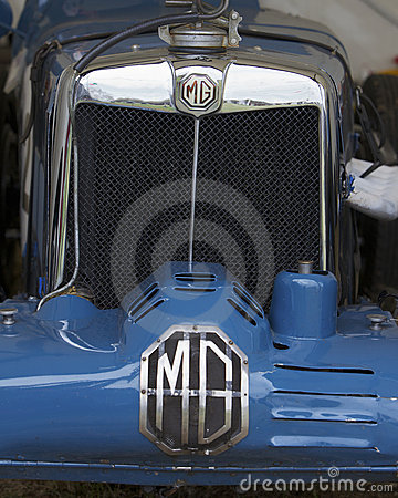 MG, logo on classic sport car Editorial Photo