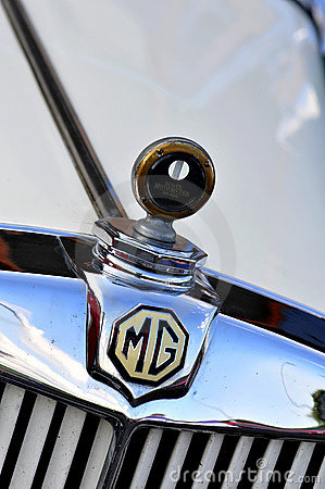 MG, logo on classic sport car Editorial Stock Image