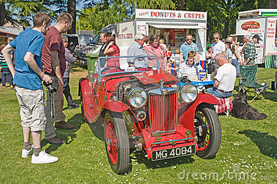 MG Sports car at Forres theme day. Editorial Image