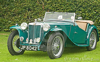MG Sports car at Fortrose.. Editorial Photography