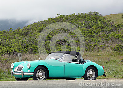 MGA sport car in suburb of San Francisco Editorial Photo