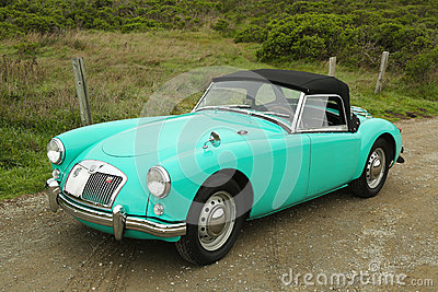 MGA sport car in suburb of San Francisco Editorial Photography