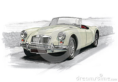 MGA Sportscar Editorial Stock Photo