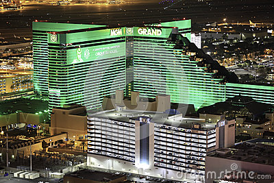 MGM Grand Casino and Hotel and Showcase Editorial Image