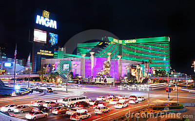 MGM Grand Hotel in Las Vegas Editorial Photography