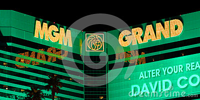 MGM Grand Las Vegas Editorial Stock Image