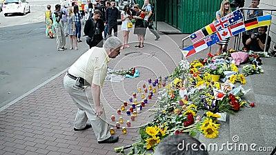 MH17 memorial memorável, embaixada dos Países Baixos (Kiev), filme