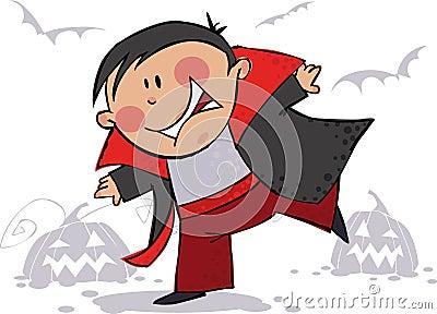 Miúdo da mágica de Halloween