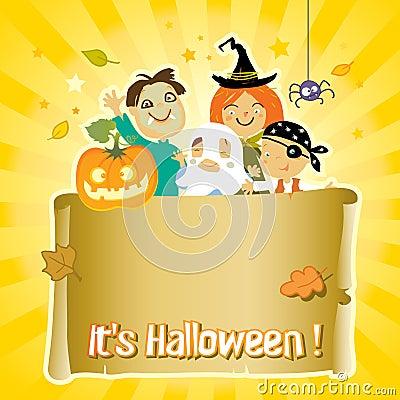 Miúdos de Halloween