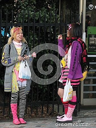 Miúdos de Harajuki Foto de Stock Editorial