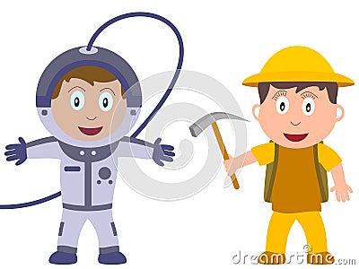 Miúdos e trabalhos - descoberta