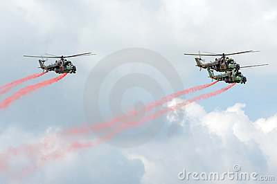 Mi-24 helicopters Editorial Photo