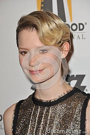 Mia Wasikowska Editorial Stock Photo