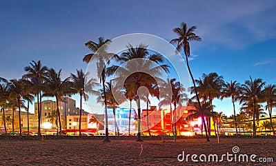 Miami Beach Florida beautiful sunset