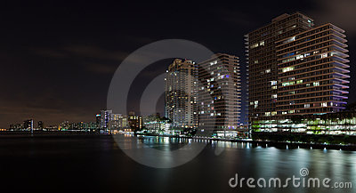 Miami Beach Inter Coastal Night Scene
