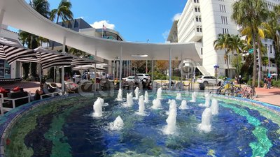 Miami Beach Lincoln Road Mall Time Lapse Video