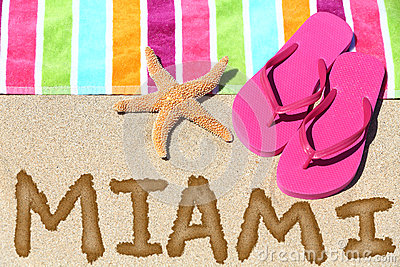 Miami, Florida beach travel background