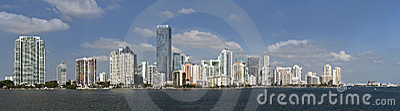 Miami Florida panorama of downtown buildings