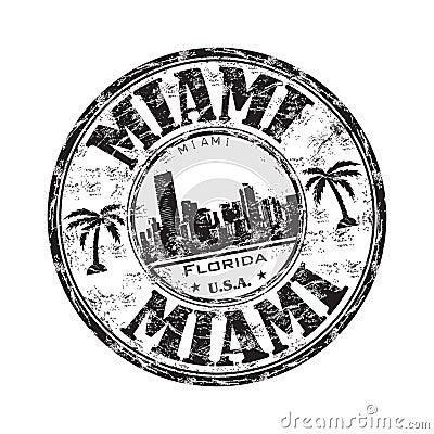Miami grunge rubber stamp