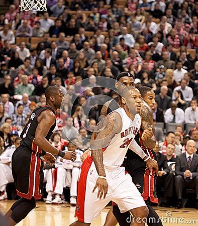 Miami Heat vs. Toronto Raptors Editorial Stock Image