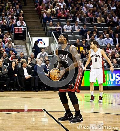 Miami Heat vs. Toronto Raptors Editorial Image