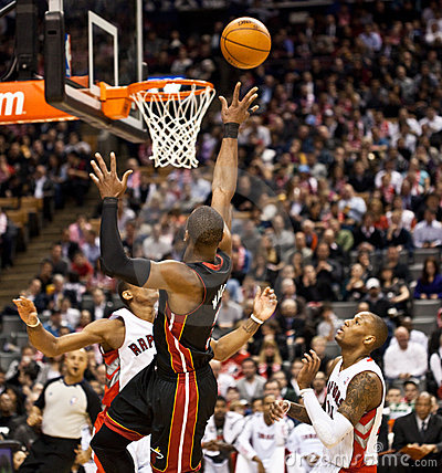 Miami Heat vs. Toronto Raptors Editorial Stock Photo